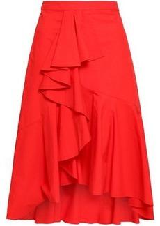Joie Woman Chesmu Ruffled Cotton-poplin Skirt Red