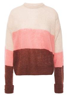 Joie Woman Color-block Wool-blend Bouclé Sweater Multicolor