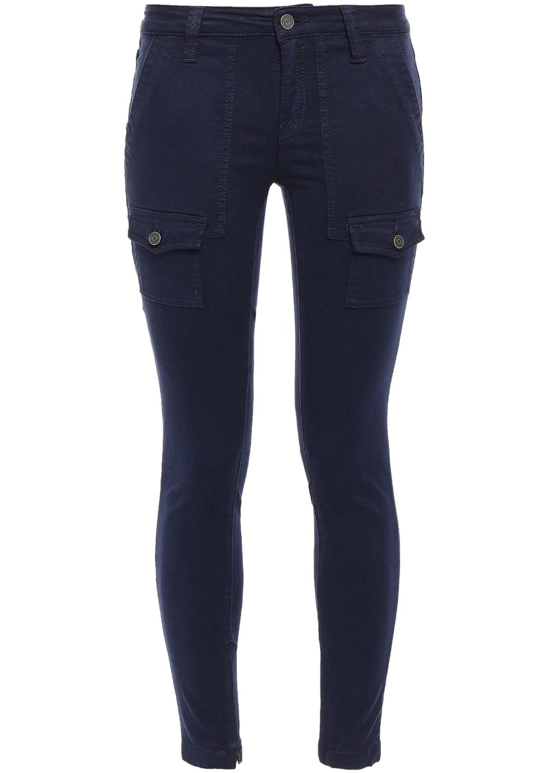 Joie Woman Cotton-blend Twill Skinny Pants Navy