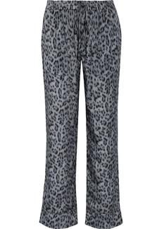 Joie Woman Daltona Leopard-print Crepe De Chine Straight-leg Pants Animal Print