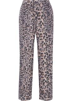 Joie Woman Daltona Leopard-print Crepe De Chine Straight-leg Pants Blush