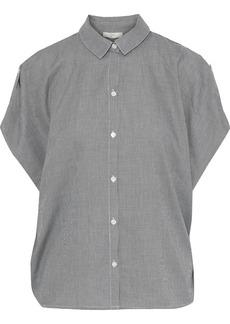 Joie Woman Datherine Houndstooth Cotton Shirt Midnight Blue