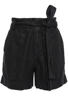 Joie Woman Daynna Belted Linen Shorts Black