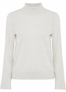 Joie Woman Deryn Mélange Wool And Silk-blend Sweater Light Gray