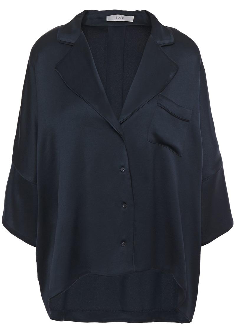 Joie Woman Desmonda Satin-crepe Shirt Navy