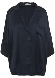 Joie Woman Desmonda Satin Shirt Midnight Blue