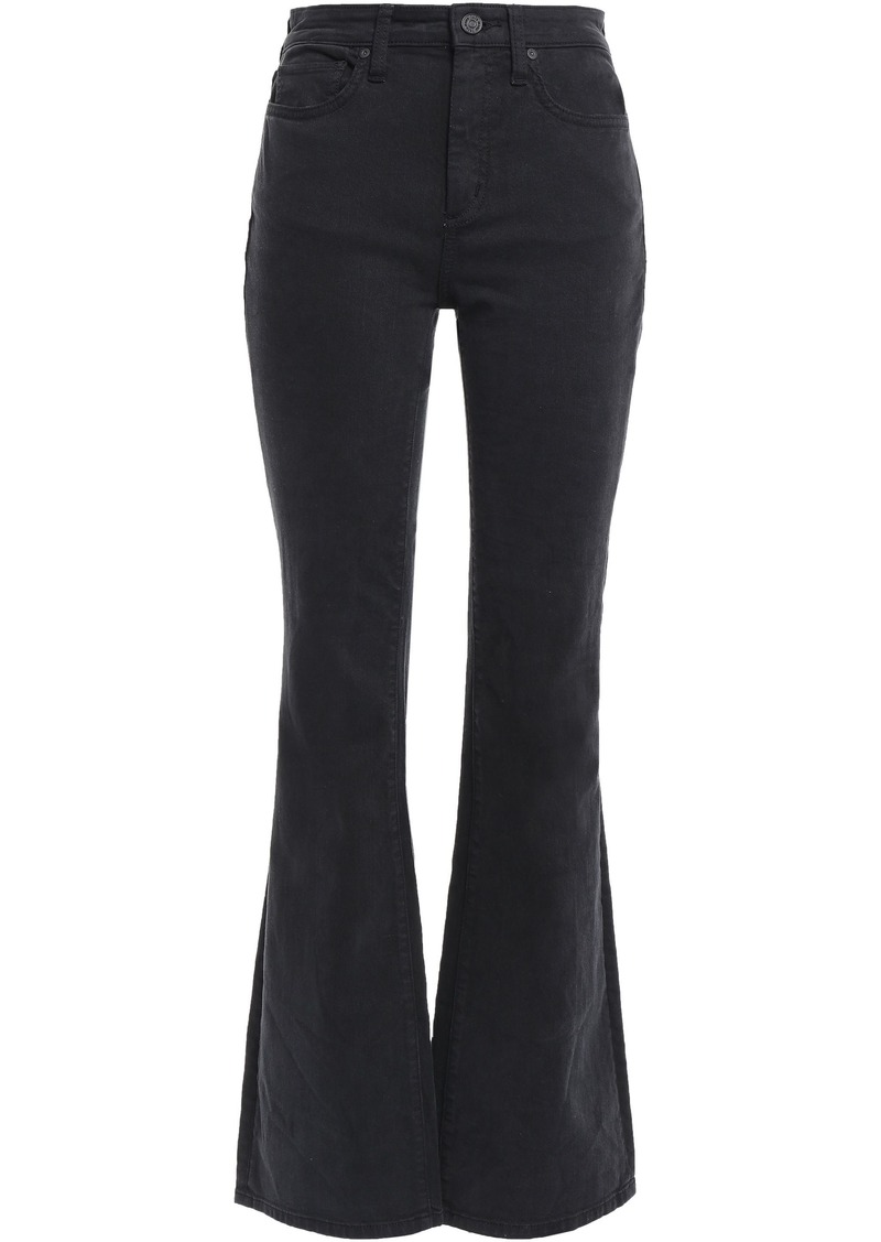 Joie Woman Eilena High-rise Flared Jeans Black