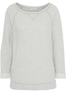 Joie Woman Emma C Mélange French Cotton-blend Terry Sweatshirt Light Gray