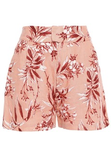 Joie Woman Farron Floral-print Linen Shorts Antique Rose