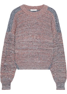 Joie Woman Fernlea Marled Two-tone Knitted Sweater Tomato Red