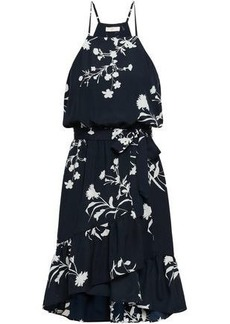 Joie Woman Floral-print Crepe De Chine Dress Midnight Blue