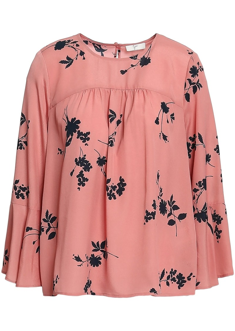 Joie Woman Floral-print Georgette Blouse Antique Rose