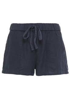 Joie Woman Fosette Linen Shorts Midnight Blue