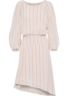 Joie Woman Gabisa Asymmetric Striped Voile Dress Pastel Pink