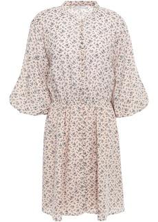 Joie Woman Galani Floral-print Cotton-blend Voile Mini Dress Pastel Pink