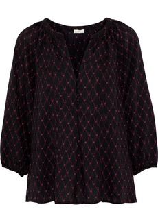 Joie Woman Gloria Printed Crepe De Chine Blouse Black