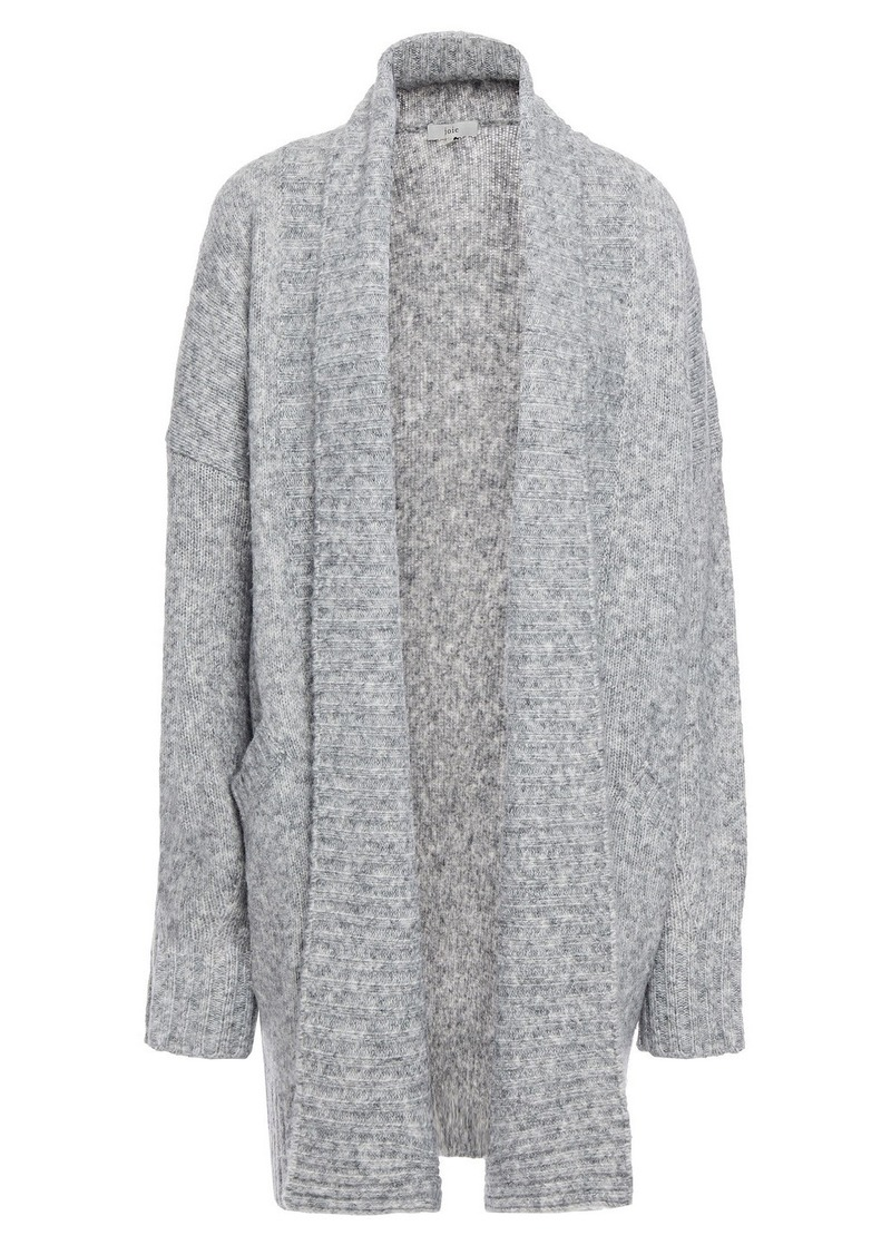 Joie Woman Gwenna Mélange Knitted Cardigan Stone