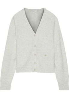 Joie Woman Hadyn Mélange Wool And Cashmere-blend Cardigan Light Gray