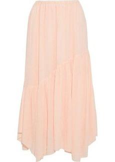 Joie Woman Hiwalani B Gathered Georgette Midi Skirt Pastel Pink