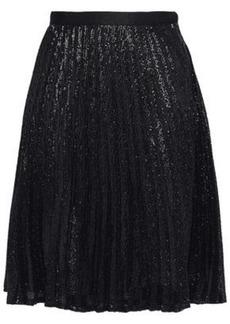 Joie Woman Jadian Sequined Pleated Chiffon Skirt Black