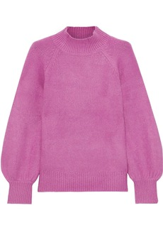 Joie Woman Jenlar Brushed Stretch-knit Sweater Magenta