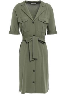 Joie Woman Jersey Mini Shirt Dress Army Green