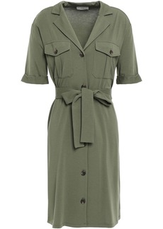 Joie Woman Jersey Mini Shirt Dress Army Green