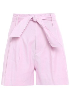 Joie Woman Kaylei Belted Linen-blend Twill Shorts Baby Pink