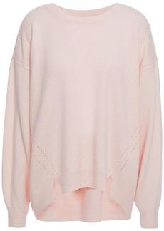 Joie Woman Kyren Pointelle-trimmed Wool Sweater Blush