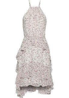 Joie Woman Lamberta Tiered Printed Silk-chiffon Dress Ivory