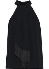 Joie Woman Leikyn Fringed Woven Top Black