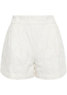 Joie Woman Lisley Embroidered Linen Shorts Off-white