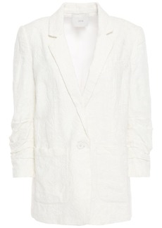 Joie Woman Loralee Embroidered Linen Blazer Off-white