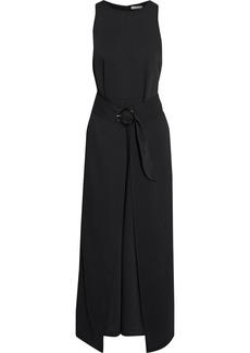 Joie Woman Mairead Layered Woven Wide-leg Jumpsuit Black