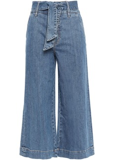 Joie Woman Marylu Tie-front Denim Culottes Mid Denim