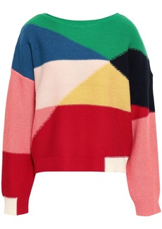 Joie Woman Megu Color-block Wool And Cashmere-blend Sweater Multicolor