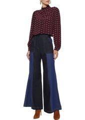 Joie Woman Mintee F Printed Crepe De Chine Shirt Dark Purple