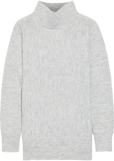 Joie Woman Mélange Knitted Turtleneck Sweater Gray