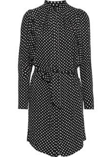 Joie Woman Myune Belted Printed Twill Mini Shirt Dress Black
