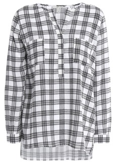 Joie Woman Nepal Checked Crepe Blouse Off-white