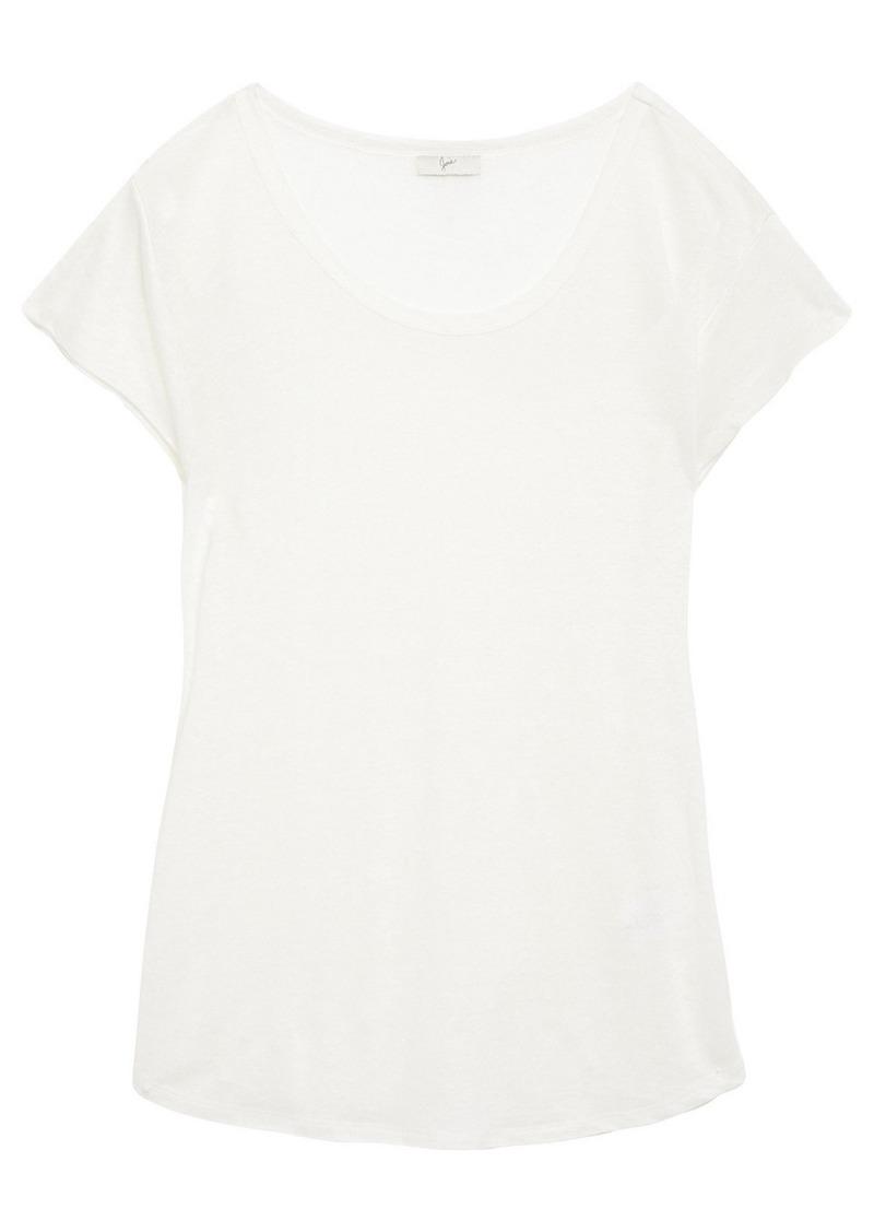 Joie Woman Neyo Slub Linen-jersey T-shirt Off-white