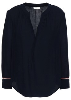Joie Woman Nichols B Crepe De Chine Blouse Midnight Blue