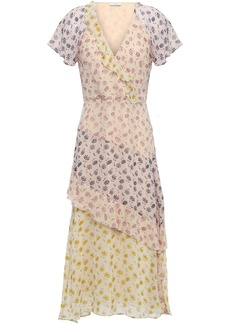 Joie Woman Orita B Wrap-effect Floral-print Silk-georgette Midi Dress Neutral
