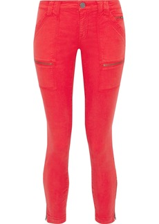 Joie Woman Zip-detailed Mid-rise Skinny Jeans Tomato Red