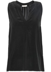 Joie Woman Silk-crepe Top Black