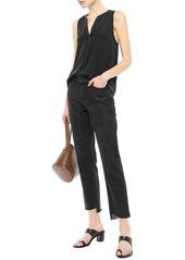 Joie Woman Silk-crepe Top Black