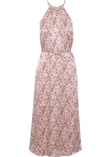 Joie Woman Printed Hammered-satin Midi Dress Baby Pink