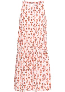 Joie Woman Printed Silk Crepe De Chine Mini Dress Red