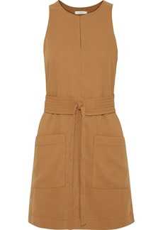 Joie Woman Puck Belted Crepe Mini Dress Camel
