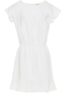 Joie Woman Quora Fluted Linen Mini Dress Off-white